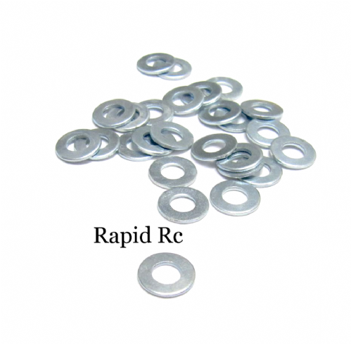 4mm Flat Washer Bright Zinc